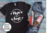 Mum of Boys print t-shirt