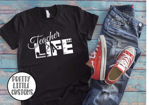 Teacher Life print t-shirt