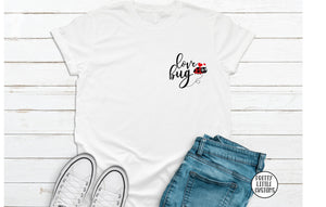 Love bug cute Valentine's Day print t-shirt