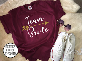 Team Bride glitter print hen t-shirt