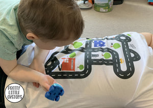 Father's day road car play-mat interactive t-shirt