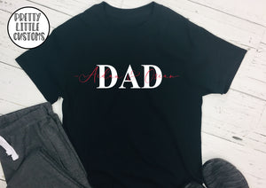 Personalised Dad print t-shirt with kids names