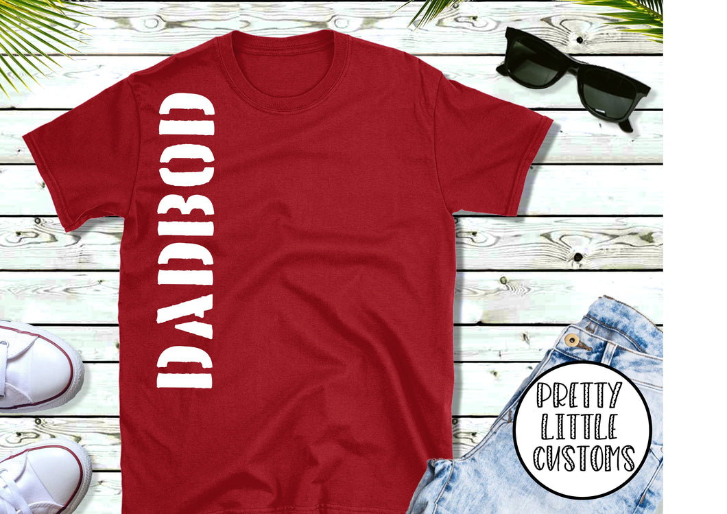 Dadbod print t-shirt - cherry red