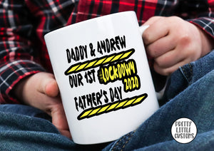 Personalised our 1st Father's Day #lockdown2020 print mug