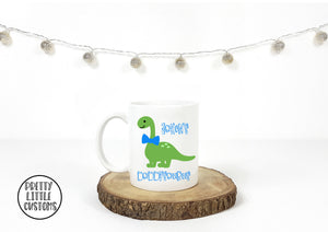 Personalised (Your name)'s Daddysaurus print mug