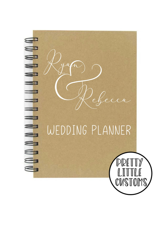 Personalised  wedding planner a5 notebook - your names