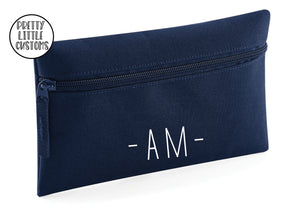 Personalised initials pencil case - french navy