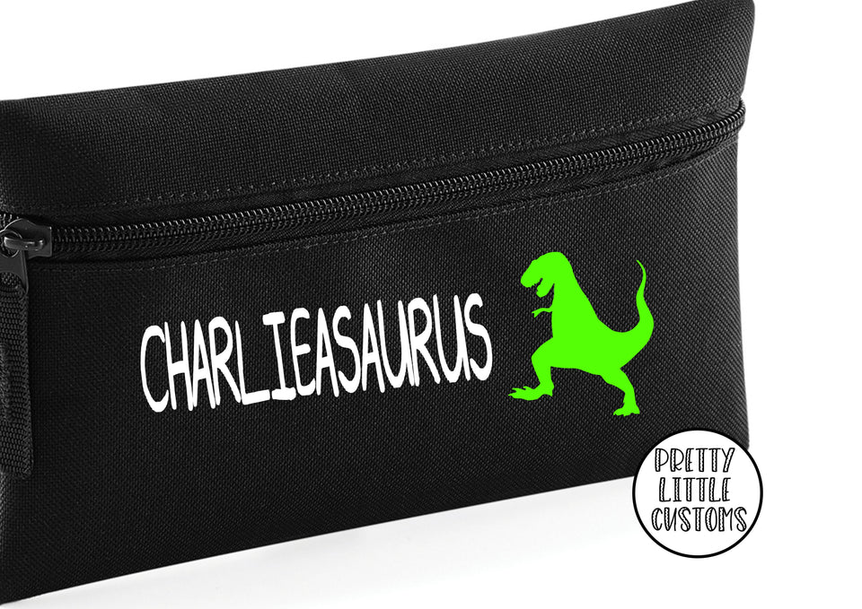 Personalised dinosaur pencil case - your name (asaurus)
