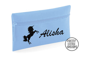 Personalised glitter unicorn pencil case - your name
