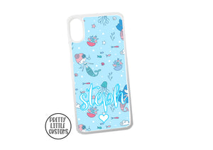 Personalised name Phone Cover -  mermaids