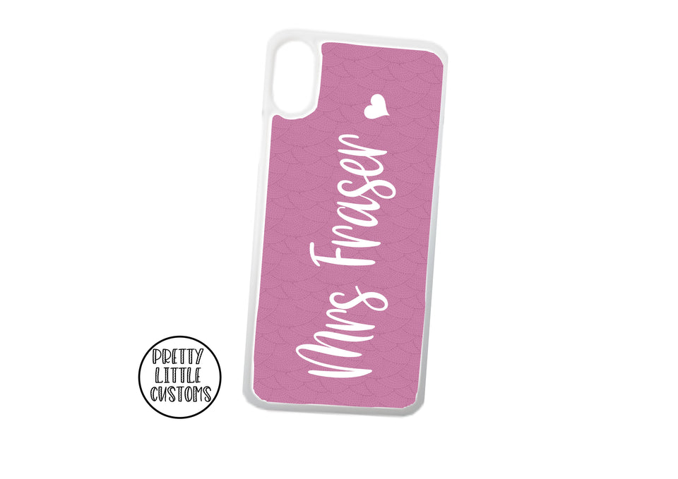 Personalised Mrs (your name) Phone Cover - pink