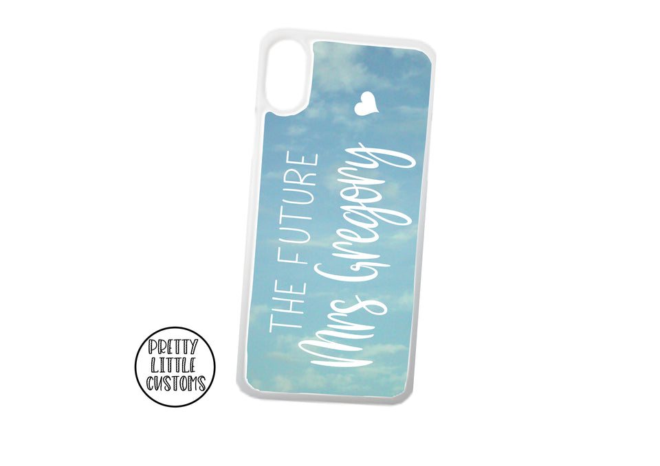 Personalised the Future Mrs (your name) Phone Cover - sky