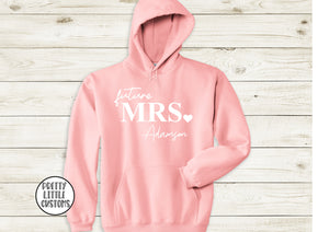 Personalised Future Mrs (your name) pale pink hoody