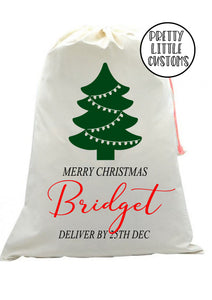 Personalised Christmas Santa Sack -  (your name) deliver by 25th Dec