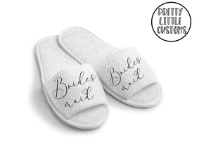 Bridal party heart print slippers - Bridesmaid