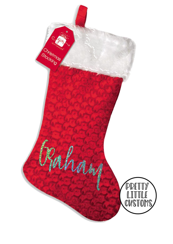 Personalised Christmas Stocking - script wording