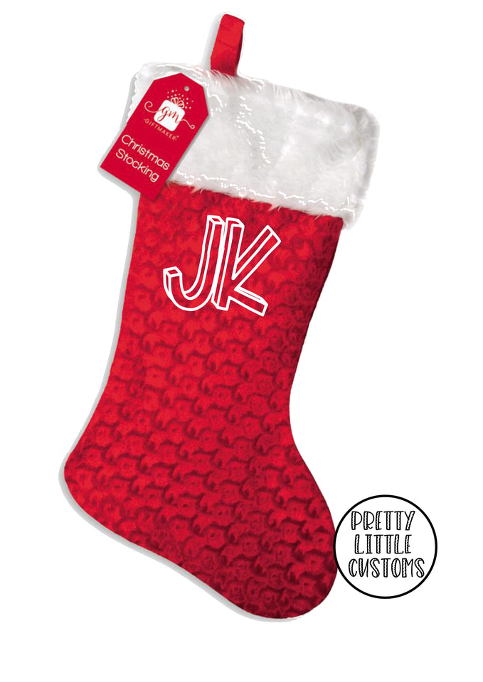 Personalised Christmas Stocking - your initials