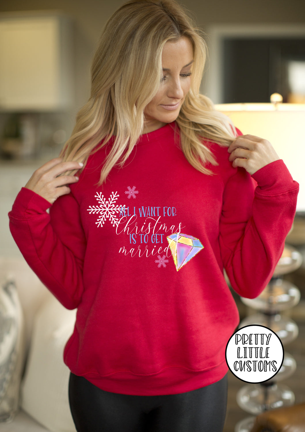 All I want for Christmas is to get married - red sweater