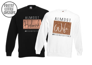 Almost Husband and Wife #weddingpostponed  commemorative print sweater set