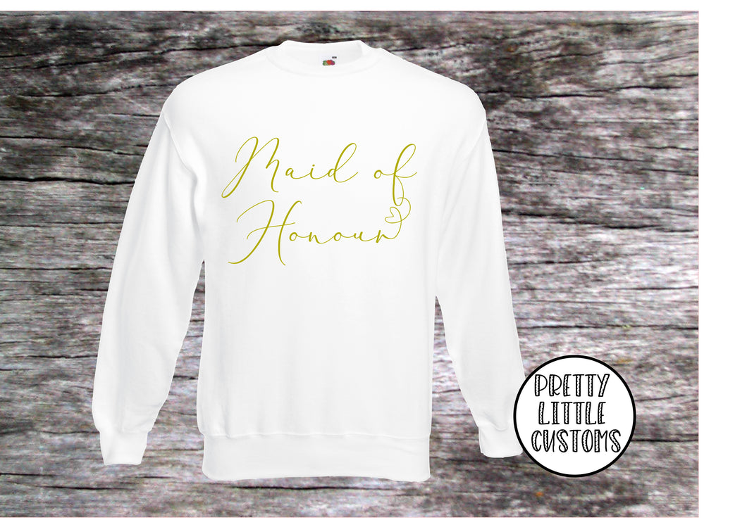 Maid of Honour heart print sweater