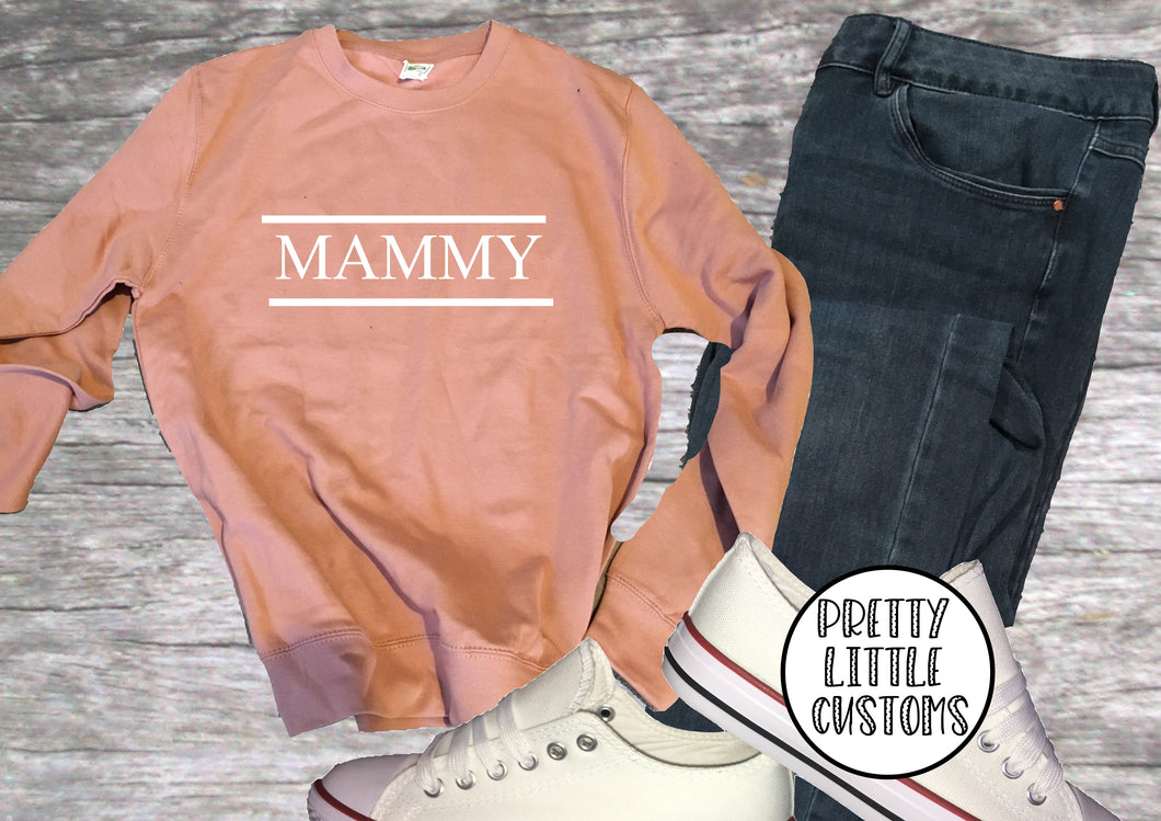 Mammy print dusty pink sweater