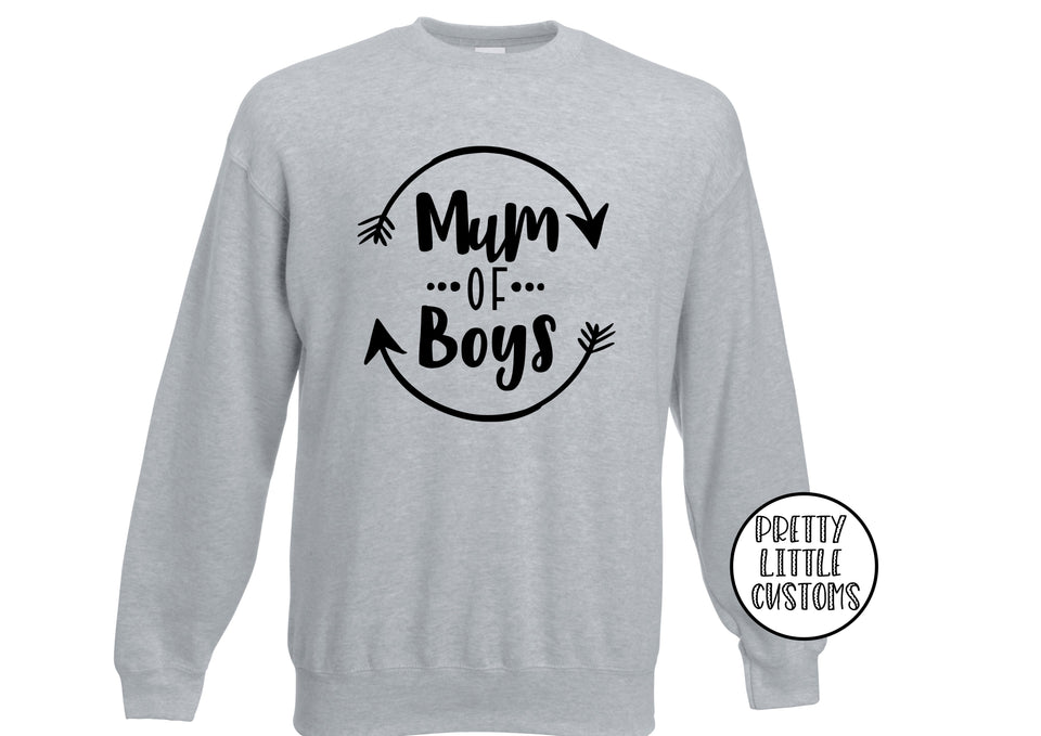 Mum of boys print sweater