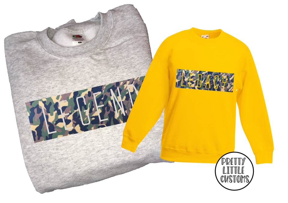 Legend & Legacy Father's Day sweater set - camo