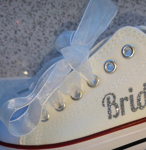 White Organza Ribbon Laces For Canvas Trainers