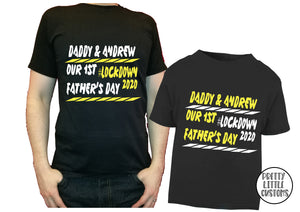 Personalised Our 1st Father's Day #Lockdown2020  t-shirt set - Father & son/daughter