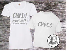 Chaos Co-Ordinator, Chaos t-shirt set - Mummy & son/daughter