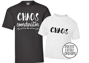 Chaos Co-Ordinator, Chaos t-shirt set - Father & son/daughter