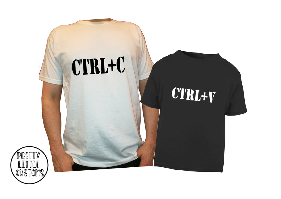 Ctrl + c, ctrl + v (copy & paste)  t-shirt set - Father & son/daughter