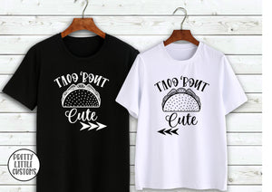 Taco 'bout cute print couple tee set