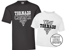 Tornado chaser, tint tornado t-shirt set - Father & son/daughter