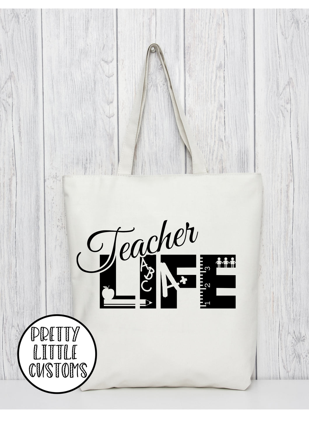 Teacher Life print tote bag