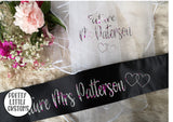 Personalised Future Mrs (Your Name) hen party veil & sash set - BLACK