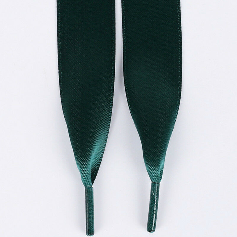 Dark Green Ribbon Laces For Canvas Trainers