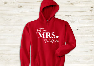 Personalised Future Mrs (your name) red hoody