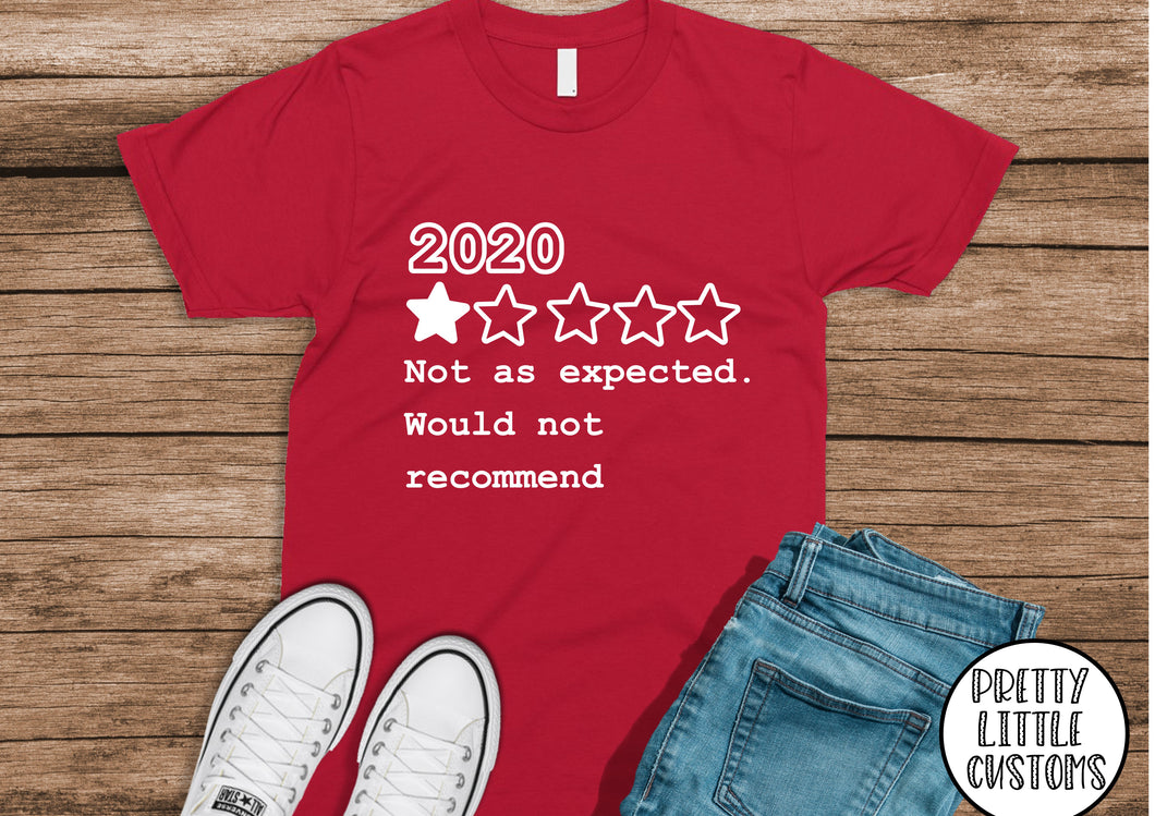 2020 Review print t-shirt - not as expected, would not recommend