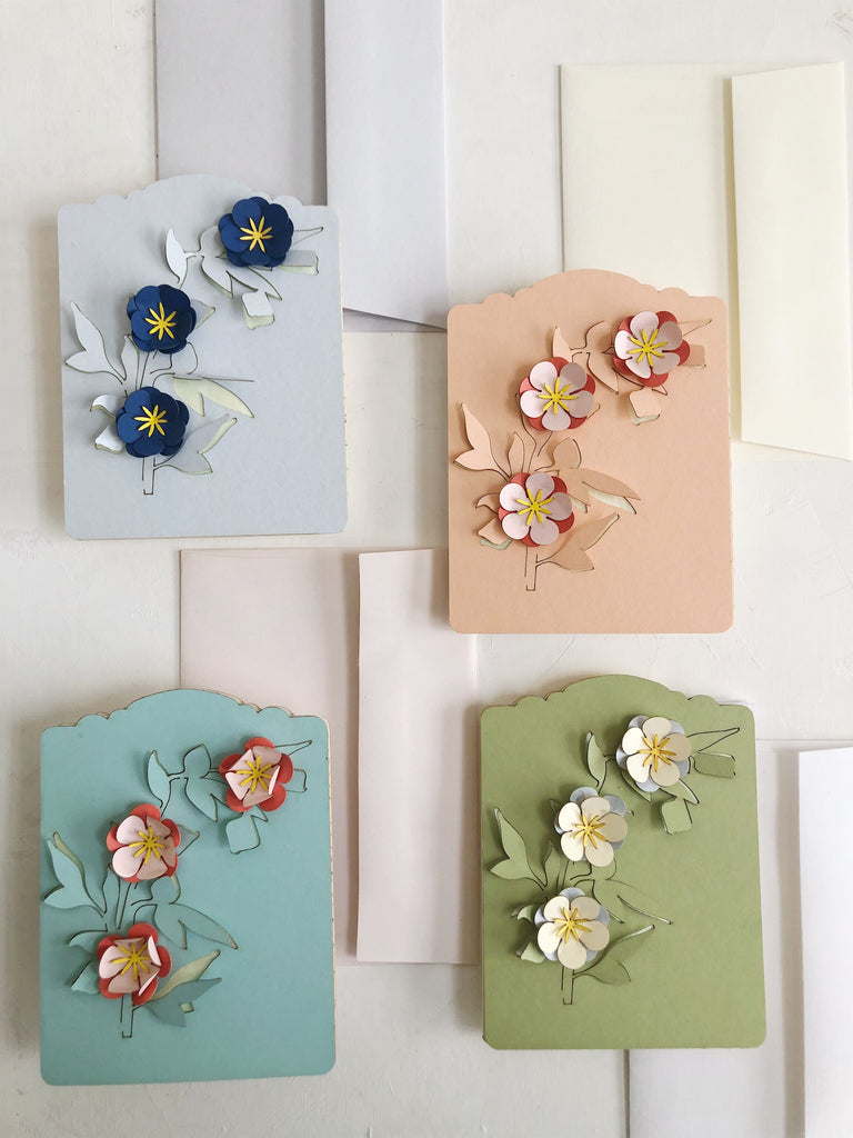 3D Flower Card Set
