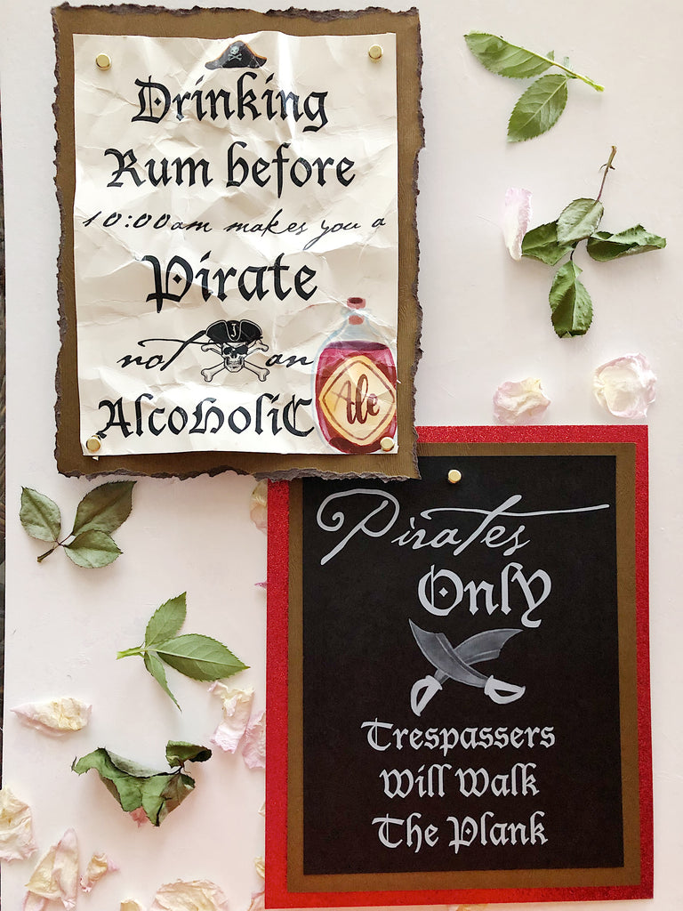 Pirate Themed Signs
