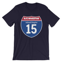 Load image into Gallery viewer, Real Estate Interstate Investor Series (I-15 Inland Empire) Short-Sleeve Unisex T-Shirt