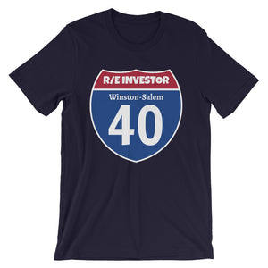 Real Estate Interstate Investor Series (I-40 Winston-Salem) Short-Sleeve Unisex T-Shirt