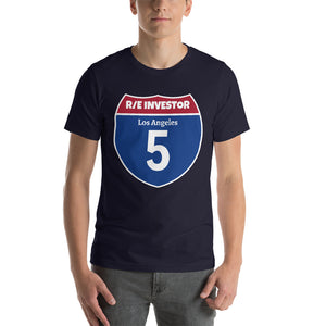 Real Estate Interstate Investor Series (I-5 Los Angeles) Short-Sleeve Unisex T-Shirt