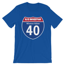 Load image into Gallery viewer, Real Estate Interstate Investor Series (I-40 Winston-Salem) Short-Sleeve Unisex T-Shirt