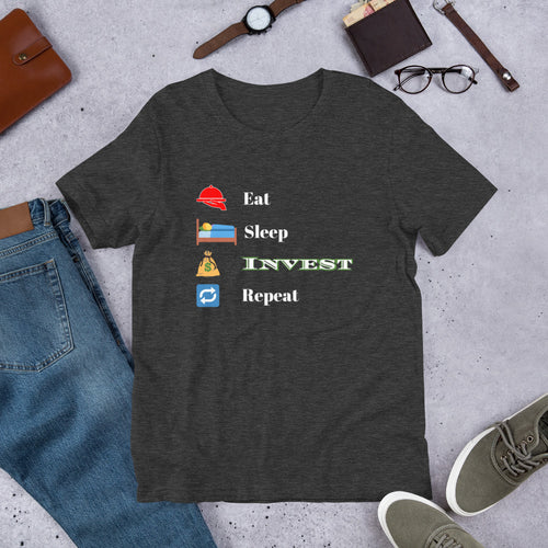 Eat, Sleep, Invest, Repeat Short-Sleeve Unisex T-Shirt
