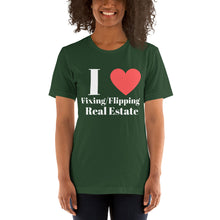 Load image into Gallery viewer, I (Heart) Fixing & Flipping Short-Sleeve Unisex T-Shirt