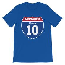 Load image into Gallery viewer, Real Estate Interstate Investor Series (I-10 Phoenix) Short-Sleeve Unisex T-Shirt
