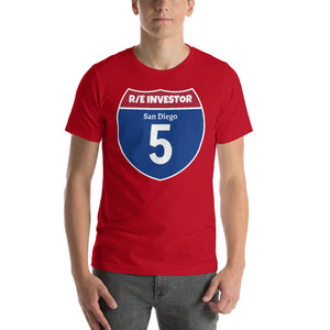 Real Estate Interstate Investor Series (I-5 San Diego) Short-Sleeve Unisex T-Shirt