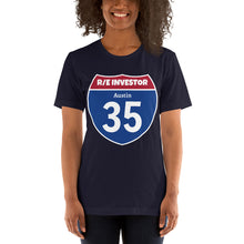 Load image into Gallery viewer, Real Estate Interstate Investor Series (I-35 Austin) Short-Sleeve Unisex T-Shirt
